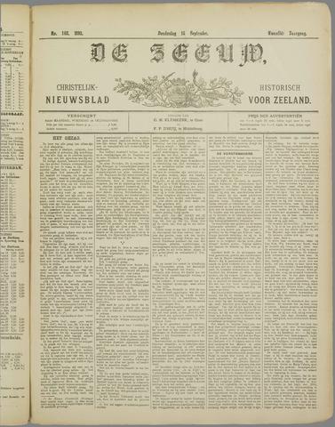 De Zeeuw. Christelijk-historisch nieuwsblad voor Zeeland 1898-09-15