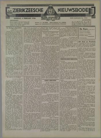 Zierikzeesche Nieuwsbode 1936-02-04