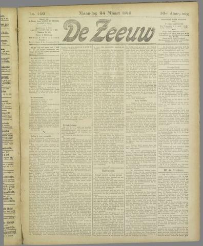 De Zeeuw. Christelijk-historisch nieuwsblad voor Zeeland 1919-03-24
