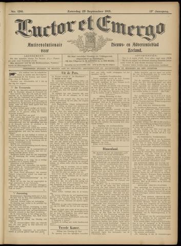 Luctor et Emergo. Antirevolutionair nieuws- en advertentieblad voor Zeeland / Zeeuwsch-Vlaanderen. Orgaan ter verspreiding van de christelijke beginselen in Zeeuwsch-Vlaanderen 1915-09-25
