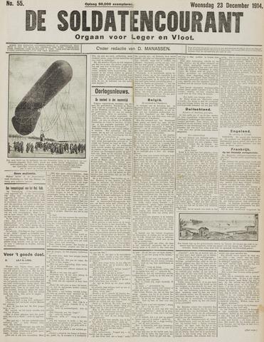 De Soldatencourant. Orgaan voor Leger en Vloot 1914-12-23