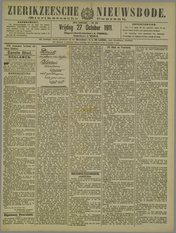 Zierikzeesche Nieuwsbode 1911-10-27