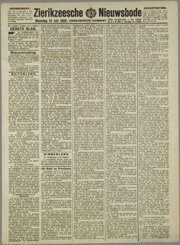 Zierikzeesche Nieuwsbode 1922-07-10