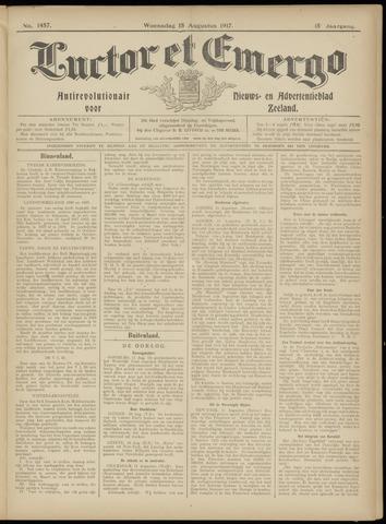 Luctor et Emergo. Antirevolutionair nieuws- en advertentieblad voor Zeeland / Zeeuwsch-Vlaanderen. Orgaan ter verspreiding van de christelijke beginselen in Zeeuwsch-Vlaanderen 1917-08-15