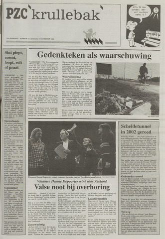 Provinciale Zeeuwse Courant katern Krullenbak (1981-1999) 1995-11-14