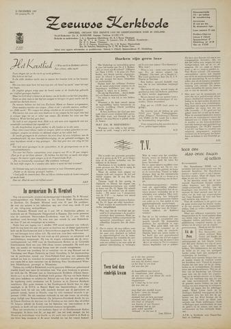 Zeeuwsche kerkbode, weekblad gewijd aan de belangen der gereformeerde kerken/ Zeeuwsch kerkblad 1969-12-18