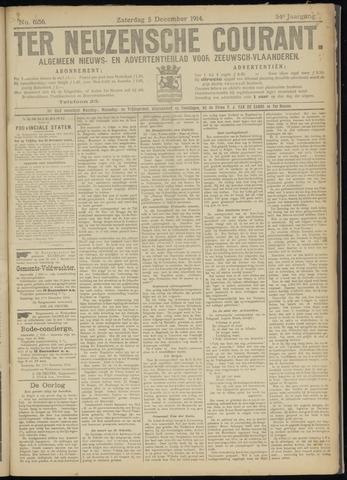 Ter Neuzensche Courant. Algemeen Nieuws- en Advertentieblad voor Zeeuwsch-Vlaanderen / Neuzensche Courant ... (idem) / (Algemeen) nieuws en advertentieblad voor Zeeuwsch-Vlaanderen 1914-12-05