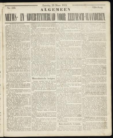 Ter Neuzensche Courant. Algemeen Nieuws- en Advertentieblad voor Zeeuwsch-Vlaanderen / Neuzensche Courant ... (idem) / (Algemeen) nieuws en advertentieblad voor Zeeuwsch-Vlaanderen 1872-03-23