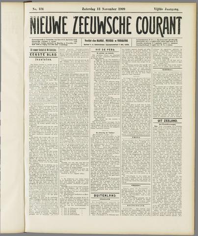 Nieuwe Zeeuwsche Courant 1909-11-13