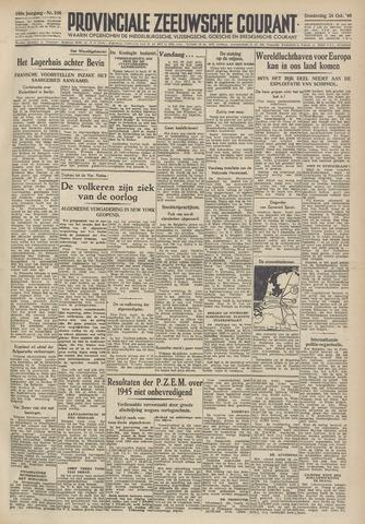 Provinciale Zeeuwse Courant 1946-10-24