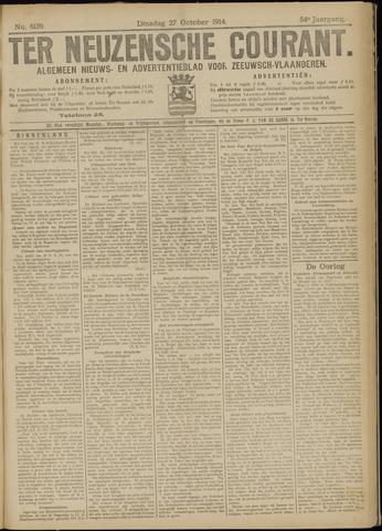 Ter Neuzensche Courant. Algemeen Nieuws- en Advertentieblad voor Zeeuwsch-Vlaanderen / Neuzensche Courant ... (idem) / (Algemeen) nieuws en advertentieblad voor Zeeuwsch-Vlaanderen 1914-10-27