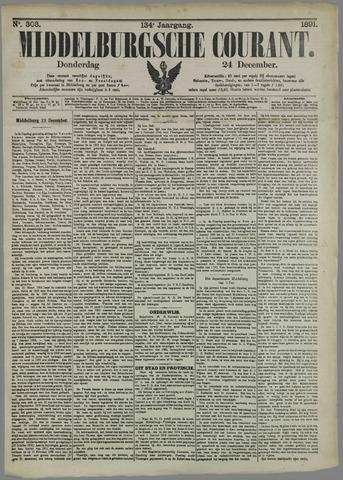 Middelburgsche Courant 1891-12-24