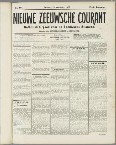 Nieuwe Zeeuwsche Courant 1905-11-28