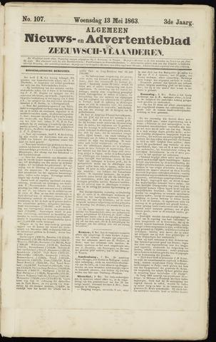 Ter Neuzensche Courant. Algemeen Nieuws- en Advertentieblad voor Zeeuwsch-Vlaanderen / Neuzensche Courant ... (idem) / (Algemeen) nieuws en advertentieblad voor Zeeuwsch-Vlaanderen 1863-05-13