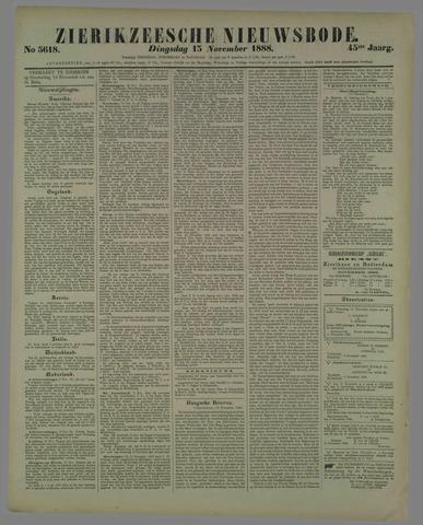 Zierikzeesche Nieuwsbode 1888-11-13