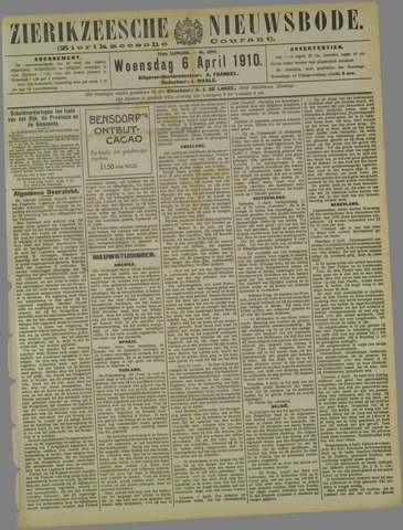 Zierikzeesche Nieuwsbode 1910-04-06