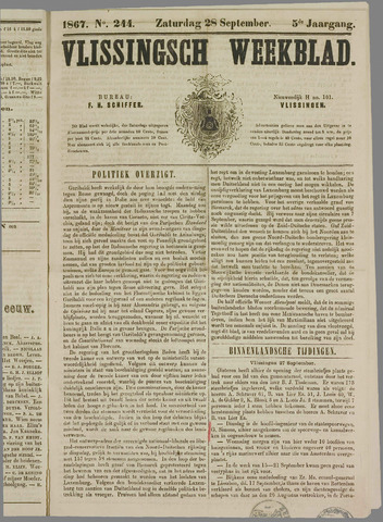 Vlissings Weekblad 1867-09-28