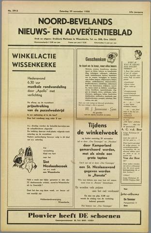 Noord-Bevelands Nieuws- en advertentieblad 1958-11-29