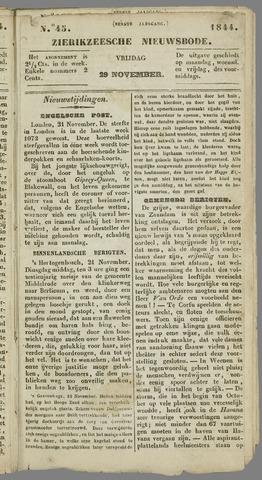 Zierikzeesche Nieuwsbode 1844-11-29