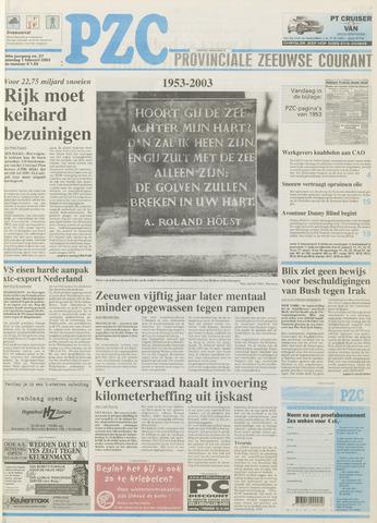 Provinciale Zeeuwse Courant 2003-02-01