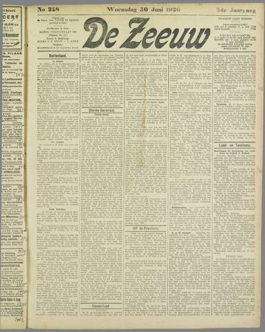De Zeeuw. Christelijk-historisch nieuwsblad voor Zeeland 1920-06-30