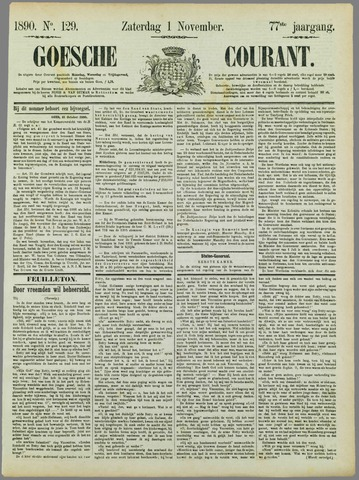 Goessche Courant 1890-11-01