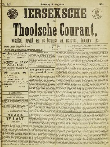 Ierseksche en Thoolsche Courant 1891-08-08