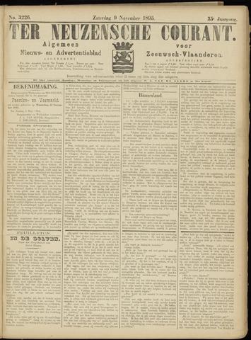 Ter Neuzensche Courant. Algemeen Nieuws- en Advertentieblad voor Zeeuwsch-Vlaanderen / Neuzensche Courant ... (idem) / (Algemeen) nieuws en advertentieblad voor Zeeuwsch-Vlaanderen 1895-11-09