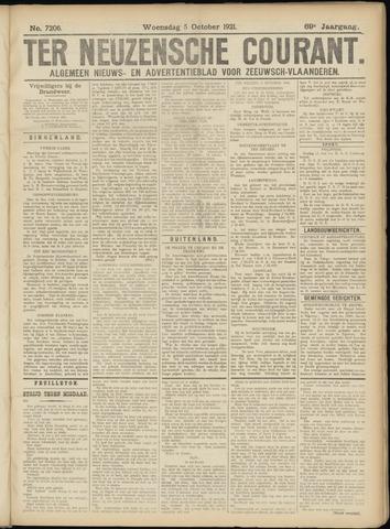 Ter Neuzensche Courant. Algemeen Nieuws- en Advertentieblad voor Zeeuwsch-Vlaanderen / Neuzensche Courant ... (idem) / (Algemeen) nieuws en advertentieblad voor Zeeuwsch-Vlaanderen 1921-10-05