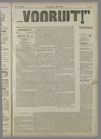 """""""Vooruit!""""Officieel Nieuws- en Advertentieblad voor Overflakkee en Goedereede 1905-05-03"""