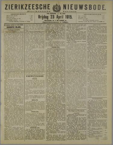 Zierikzeesche Nieuwsbode 1915-04-23