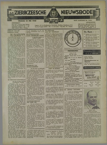 Zierikzeesche Nieuwsbode 1940-05-24