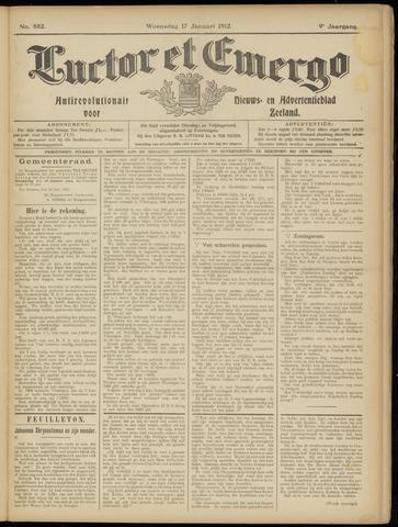 Luctor et Emergo. Antirevolutionair nieuws- en advertentieblad voor Zeeland / Zeeuwsch-Vlaanderen. Orgaan ter verspreiding van de christelijke beginselen in Zeeuwsch-Vlaanderen 1912-01-17