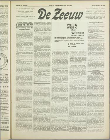 De Zeeuw. Christelijk-historisch nieuwsblad voor Zeeland 1934-07-10