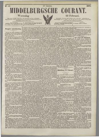 Middelburgsche Courant 1899-02-22