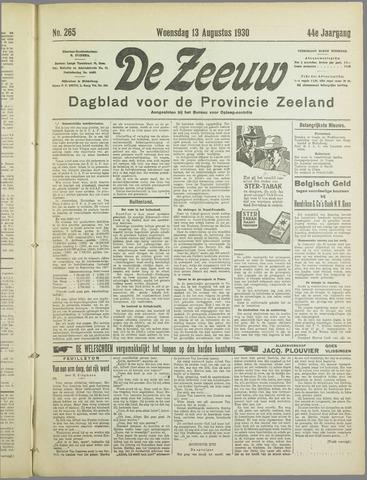 De Zeeuw. Christelijk-historisch nieuwsblad voor Zeeland 1930-08-13