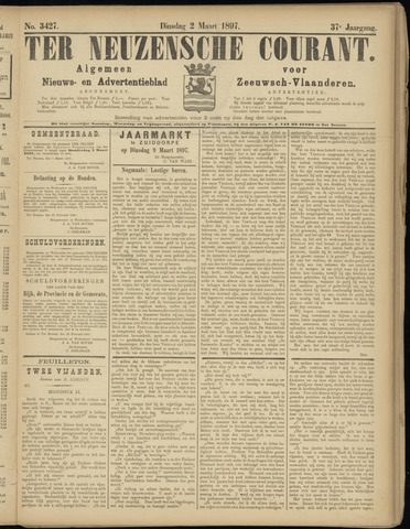 Ter Neuzensche Courant. Algemeen Nieuws- en Advertentieblad voor Zeeuwsch-Vlaanderen / Neuzensche Courant ... (idem) / (Algemeen) nieuws en advertentieblad voor Zeeuwsch-Vlaanderen 1897-03-02
