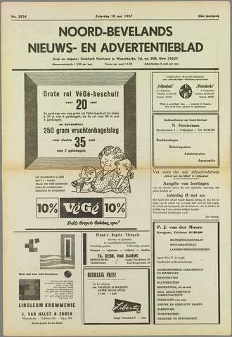 Noord-Bevelands Nieuws- en advertentieblad 1957-05-18