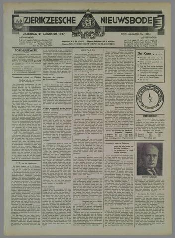 Zierikzeesche Nieuwsbode 1937-08-21