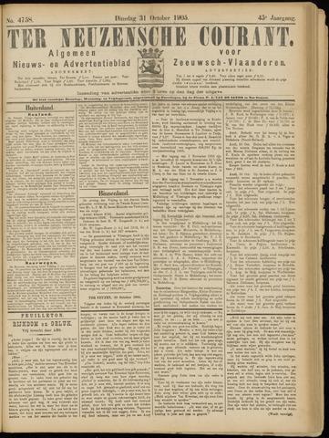 Ter Neuzensche Courant. Algemeen Nieuws- en Advertentieblad voor Zeeuwsch-Vlaanderen / Neuzensche Courant ... (idem) / (Algemeen) nieuws en advertentieblad voor Zeeuwsch-Vlaanderen 1905-10-31
