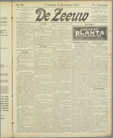 De Zeeuw. Christelijk-historisch nieuwsblad voor Zeeland 1919-12-03