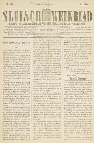 Sluisch Weekblad. Nieuws- en advertentieblad voor Westelijk Zeeuwsch-Vlaanderen 1875-04-16