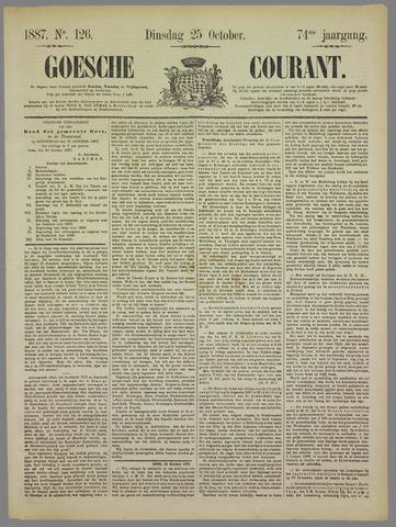 Goessche Courant 1887-10-25