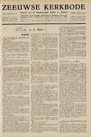 Zeeuwsche kerkbode, weekblad gewijd aan de belangen der gereformeerde kerken/ Zeeuwsch kerkblad 1949-02-04