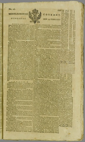 Middelburgsche Courant 1806-02-25