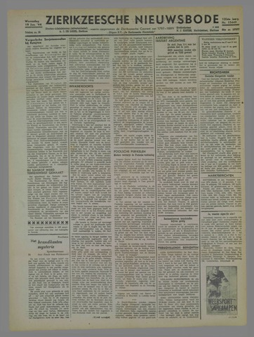 Zierikzeesche Nieuwsbode 1944-01-19