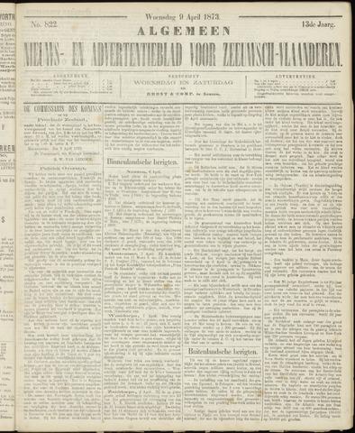 Ter Neuzensche Courant. Algemeen Nieuws- en Advertentieblad voor Zeeuwsch-Vlaanderen / Neuzensche Courant ... (idem) / (Algemeen) nieuws en advertentieblad voor Zeeuwsch-Vlaanderen 1873-04-09