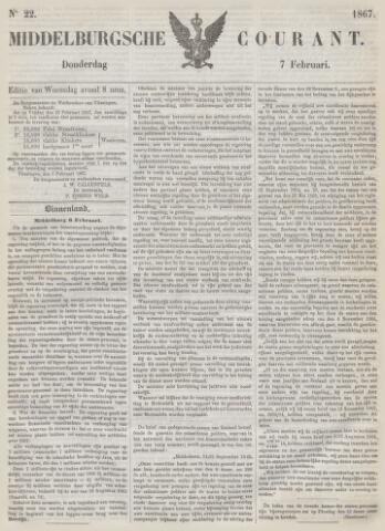 Middelburgsche Courant 1867-02-07