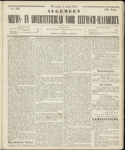 Ter Neuzensche Courant. Algemeen Nieuws- en Advertentieblad voor Zeeuwsch-Vlaanderen / Neuzensche Courant ... (idem) / (Algemeen) nieuws en advertentieblad voor Zeeuwsch-Vlaanderen 1870-06-08