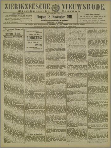 Zierikzeesche Nieuwsbode 1911-11-03